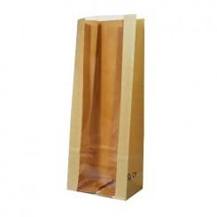Пакет крафт / полоска с прозрачной полосой 50 мм