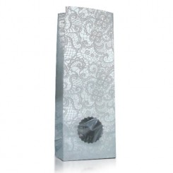 Пакет «кружево» матовый, с металлиз. прозрачным окном «круг волна» 40 мм