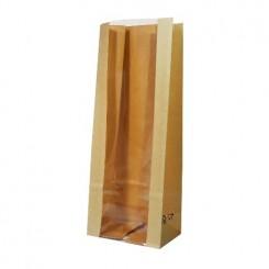 Пакет крафт / полоска с прозрачной полосой 75 мм