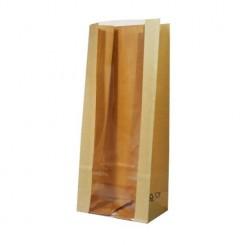 Пакет крафт / полоска с прозрачной полосой 90 мм
